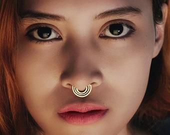 Septum Clicker, Gold Nose Ring, Gold Septum, Boho Jewelry, Boho Septum RIng, Gold Septum Ring, Nose Piercing, Gold Nose Piercing, Gold Ring