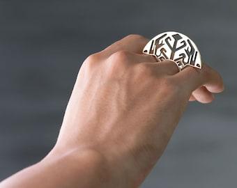 Brass Ring - Unusual Ring - Sumatra Ring - Unique Ring