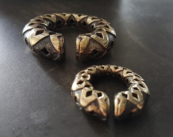 Brass Ear Weights - Stretched Ears - Tribal Weights - Egypt Weights