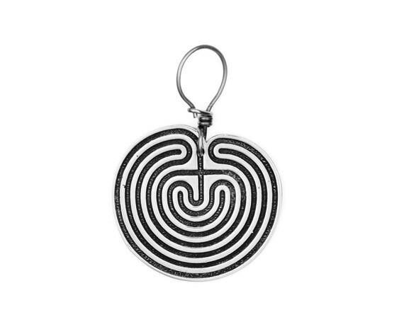Labyrinth Silber Maze Hoop Ohrringe Stammes Ohrringe | Etsy