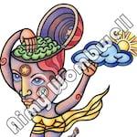 BRAINLESS GODDESS art print, artwork, wall decor, giclee print, wall art, interior decor, drawing