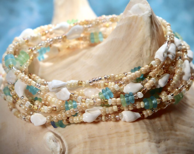 Sand & Sea Extra-long Wrap Stretch Bracelet, Necklace or Anklet