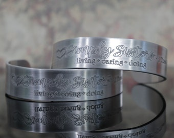 CUSTOM Engraved Cuff Bracelet - YOUR Words, Name or Handwriting