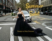 SALE ends today Black Wedding Dress, Ready to Ship, Gothic Wedding Dress, Alternative Tulle TWILIGHT, Free Shipping