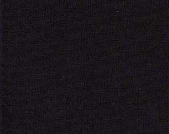 End of Bolt 1/2 Yard Timeless Treasure - Black Double Dyed Solid SUPER Black Fabric