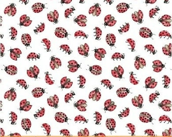 LOVE LETTERS by Shannon Christensen for Windham Fabric -51418-5 Lady Bug - Lady Bird - Lady Bug