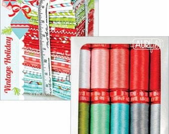 Bonnie Camille Vintage Holiday Thread - Vintage Holiday Collection CR50VH10 Aurifil