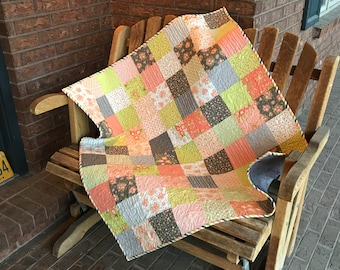 Homemade - Apricot Ash Baby Quilt