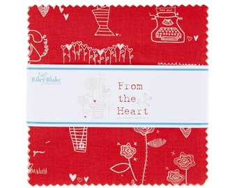From The Heart Charm Pack -  5 Inch Stacker - 42 Pieces