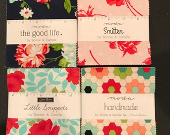 Bonnie And Camille Little Snippets - Smitten- The Good Life - Handmade Charm Packs