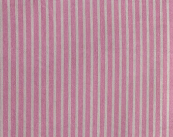 End of Bolt 1/2 Yard - Riley Blake/Penny Rose - Petite Treat Stripes Pink - by Lindsay wilkes - C7505 - Approximately 1/8th inch Stripes