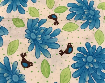 Me My Sister Birdie - Me My Sister  Rare Find Out Of Print Fabric - 1.5 Yards
