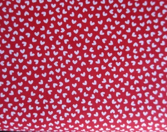 End of Bolt 1 yard 4 Inches - Sweetcakes Love Red Fabric - Riley Blake