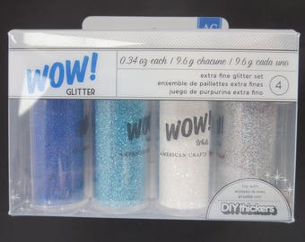 American crafts Extra Fine Glitter Set -27399 - 4 Piece