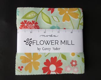 Flower Mill Charm Pack - By Corey Yoder for Moda