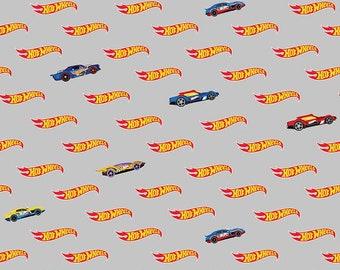 Riley Blake - Hot Wheels Logo Grey C9752 - Fabric