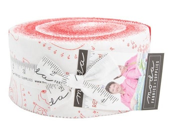 Red-iculously In Love Jelly Roll - Moda - Me and My Sister Designs - Valentine Jelly Roll - Rediculously In Love