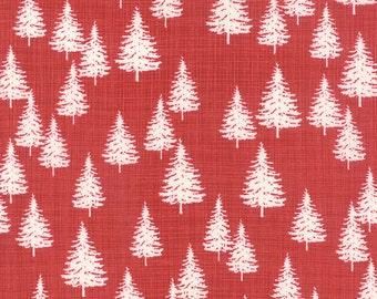 Moda - Winterberry Berry 13143 17 - Christmas Tree Forest Red Yardage