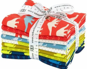 Fat Quarter Bundle Prehistoric Pals 9 pieces /bundle - 1467-9 -Laurie Wisbrun for Robert Kaufman