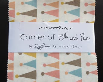Moda - Corner of 5th and Fun- Charm Pack by Sandy Gervais 2017 Fabric