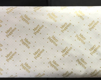 Camelot Licensed Fabric - Mary Poppins -85460104L - With Metalic - It's Supercalifragilisticexpialidocious!