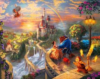 Disney Dreams Falling in Love Digital Panel 36in # DS20139C1 - Beauty And The Beast