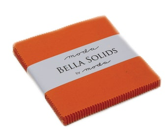 Bella Solid Orange Charm Pack - 9900PP 80