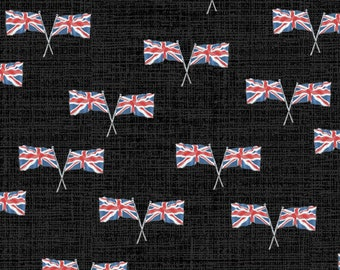 LONDON by Whistler Studios -  Windham Fabrics 52347-5 - Flags