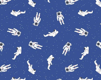 Riley Blake - Out of this World with NASA Astronauts Blue - Fabric - I Spy Fabric