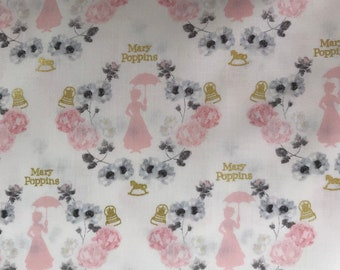 Camelot Licensed Fabric - Mary Poppins -85460101L - With Metalic - It's Supercalifragilisticexpialidocious!