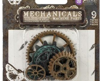 Finnabair Mechanicals Metal  Gears Embellishments by Prima Marketing - 967109