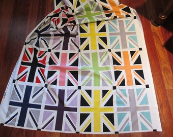 Riley Blake - Union Jack Gray Fabric