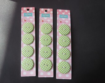 "Riley Blake Sew Together 1"" Round Gingham Buttons - Lime"