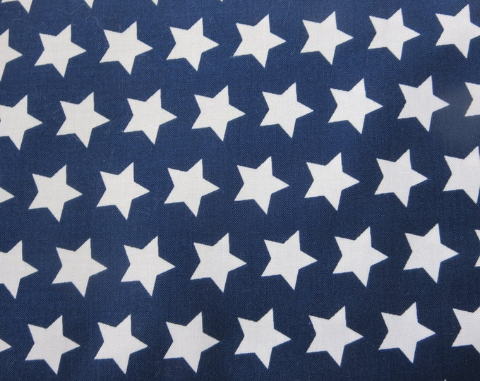 Featured listing image: Riley Blake - Navy Fabric With White Stars 2015 Basics - C315 - 21 - I Managed To Get Another Bolt!