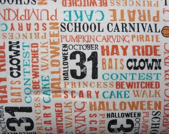 Penny Rose Trick Or Treat Seasonal Halloween Fabric -Riley Blake C5993