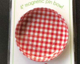 MAGNETIC Pin Bowl - Red Gingham - Riley Blake - STMB-4989 - Pleasant Home by Jodi Nelson