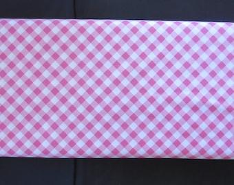 Wonderland 2 Gingham Pink Fabric -Riley Blake SC5775 - Darker Pink - We also stock the lighter pink