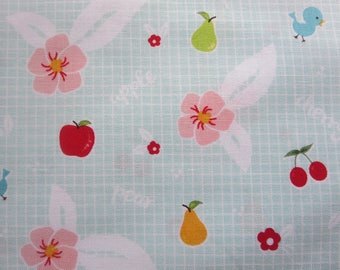 End Of Bolt 1 Yard - Sweet Orchard Fruit Aqua C5481- Riley Blake