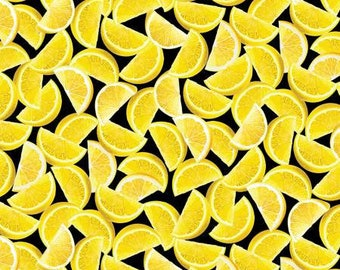 From KANVAS by Benartex Lemon Fresh - Lemon Wedges - I Spy Fabric