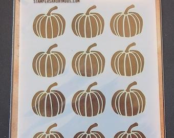 """Tim Holtz - Layering Stencil - THS062 Pumpkin - Tim Holtz Layered Stencil 4.125""""X8.5"""""""