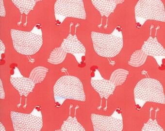 Farm Fresh by Gingiber for Moda Fabrics - Cluck Strawberry yardage 48262-17  4826217