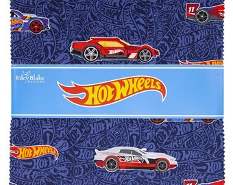 Hot Wheels Layer Cake / Hotwheels Stacker 42 x 10 Inch Squares