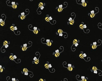 Timeless Treasures - Black Bees - You are my Sunshine Collection  Fabric C5496