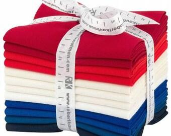 Fat Quarter Kona Cotton Patriotic Holiday Palette, 12pcs/bundle  FQ1378-12