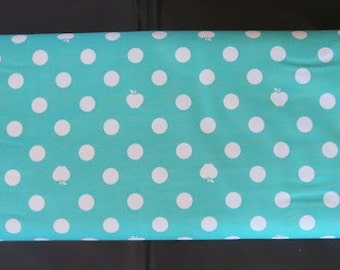 Apple Of My Eye - Blue Dot Fabric - Out Of Print Fabric