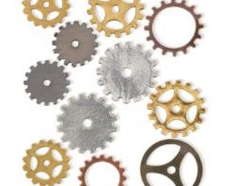 STEAMPUNK Metal Accents 11/Pkg - STEAM083 - Small Gears