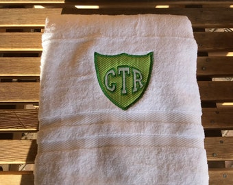 CTR Towel - Green With White Dots