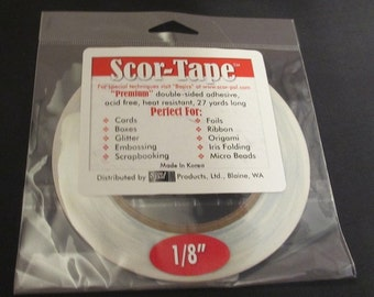 Scor-Tape - Premium Double Sided Adhesive 1/8""