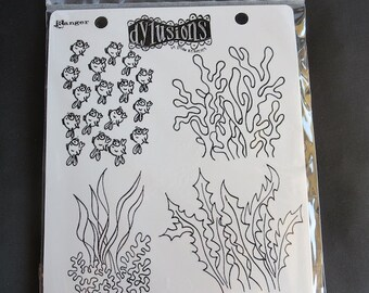 Dylusions - Ocean Backgrounds Stamp Set - DYR37798
