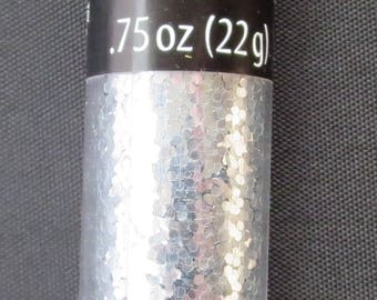 Darice - Loose Glitter Tube - Silver - .75 ounces